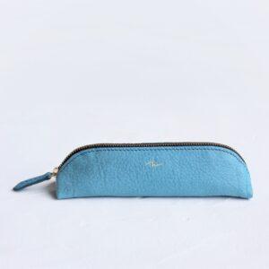 ペンケース青ファスナー紺版